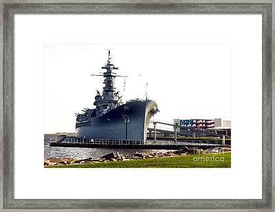 Uss Alabama Bb-60 Framed Print by Baltzgar