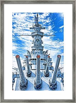 Uss Alabama Framed Print by Dennis Cox WorldViews