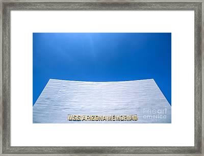 Uss Arizona Memorial Framed Print by Diane Diederich