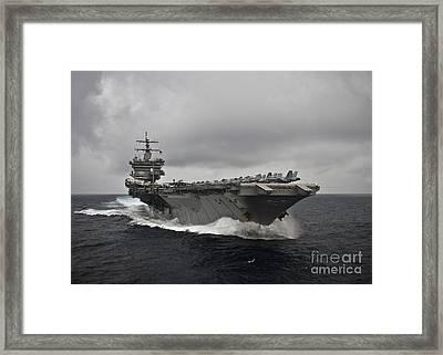 Uss Enterprise Framed Print by Celestial Images