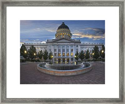 Utah State Capitol Building Framed Print by Utah Images