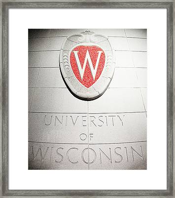 Uw Crest Framed Print by Todd Klassy