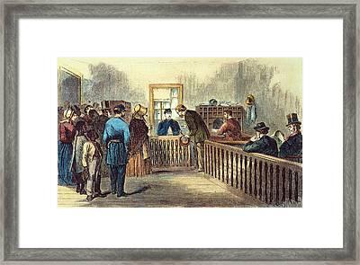Va: Freedmens Bureau 1866 Framed Print