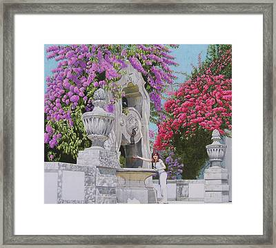 Vacation In Portugal Framed Print by Constance Drescher