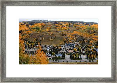 Vail Colorado Framed Print by Fiona Kennard
