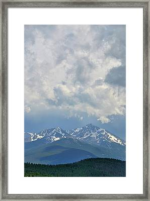 Framed Print featuring the photograph Vail Colorado Series 2 by Steven Richman