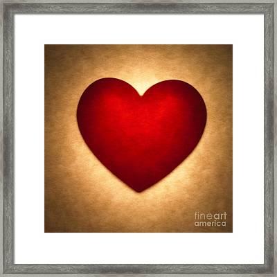 Valentine Heart Framed Print