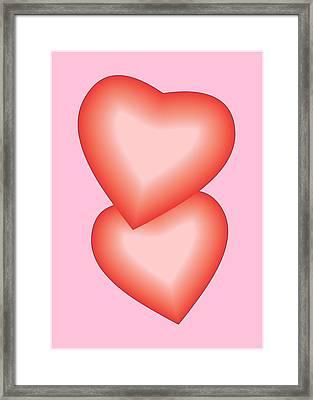 Valentine Hearts Framed Print by Sherril Porter