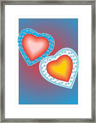 Valentine Lace Framed Print by Sherril Porter
