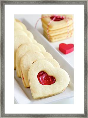 Framed Print featuring the photograph Valentines Day Treats by Teri Virbickis