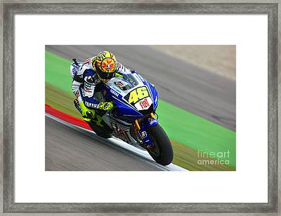 Valentino Rossi Framed Print by Henk Meijer Photography