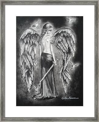 Valkyrie Angel Framed Print by Carla Carson