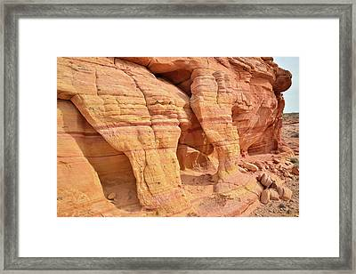 Framed Print featuring the photograph Valley Of Fire Wall Arches by Ray Mathis