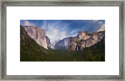 Valley View Framed Print by Lana Trussell