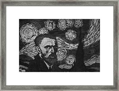 Van Gogh And Starry Night Framed Print by Furqi Faiq