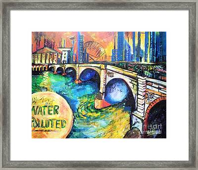 Framed Print featuring the painting Van Gogh Today by Linda Shackelford