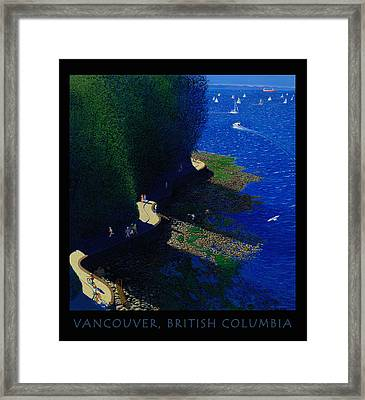 Vancouver North Seawall Poster  Framed Print by Neil Woodward