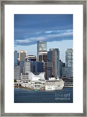 Vancouver Skyline Framed Print by John Greim