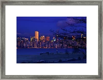 Vancouver Skyline Framed Print by Paul Kloschinsky