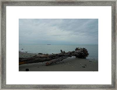 Framed Print featuring the photograph Vancouver Tower Beach  by Steven Richman
