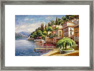 Varenna, Lago Di Como Framed Print