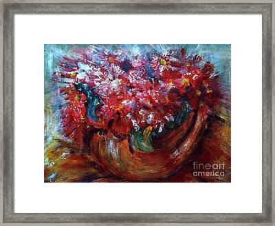 Framed Print featuring the painting Vase by Jasna Dragun