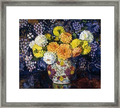 Vase Of Flowers Framed Print