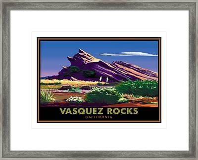 Vasquez Rocks Framed Print by Steve Beaumont
