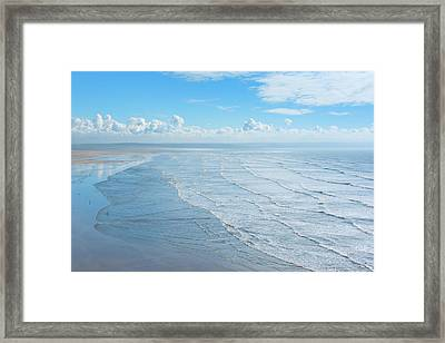 Vast Beach Framed Print by Svetlana Sewell