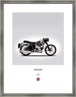 Velocette Venom 1957 Framed Print by Mark Rogan