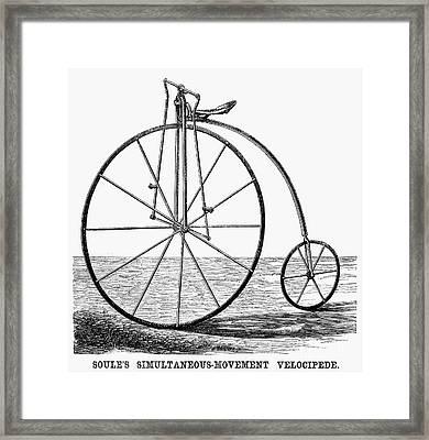 Velocipede, 1869 Framed Print by Granger