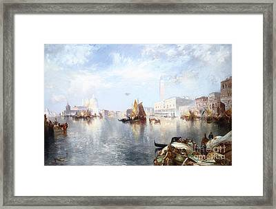 Venetian Grand Canal Framed Print by Thomas Moran