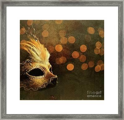 Venetian Mask Framed Print by Jelena Jovanovic