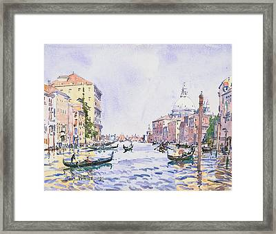 Venice - Afternoon On The Grand Canal Framed Print by Edward Darley Boit