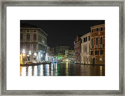 Framed Print featuring the photograph Romantic Venice  by Silvia Bruno