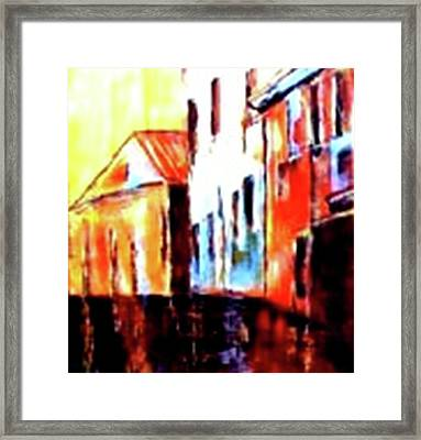 Venice Canal Cruise 1 Framed Print