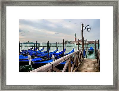 Venice Canal Gondolas  Framed Print by Ken Andersen