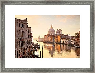 Framed Print featuring the photograph Venice Grand Canal View by Songquan Deng