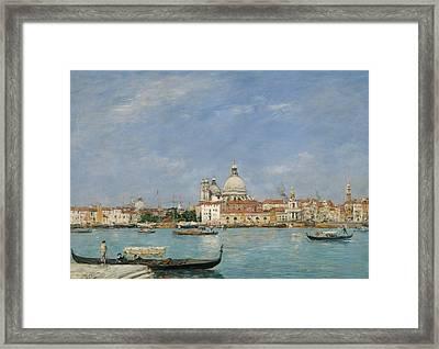 Venice, Santa Maria Della Salute From San Giorgio Framed Print by Eugene Boudin