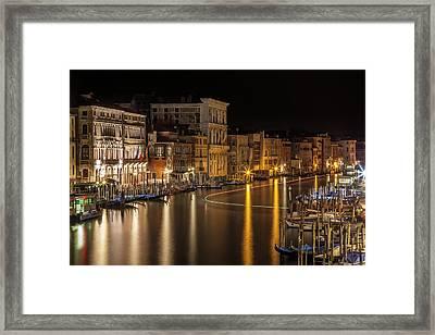 Venice View From Rialto Bridge Framed Print by Melanie Viola
