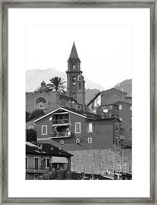 Ventamiglia Framed Print by Karen Lewis