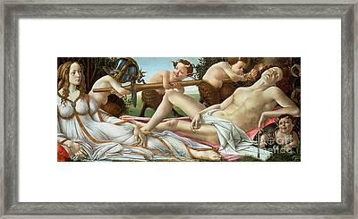 Venus And Mars Framed Print by Sandro Botticelli