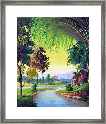 Verde Que Te Quero Verde Framed Print by Leomariano artist BRASIL