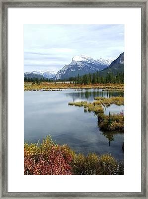 Vermillion Lakes Framed Print by Tiffany Vest