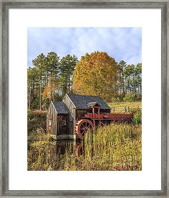Framed Print featuring the photograph Vermont Grist Mill by Edward Fielding