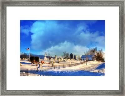 Vermont Winter Scene Framed Print by Joann Vitali