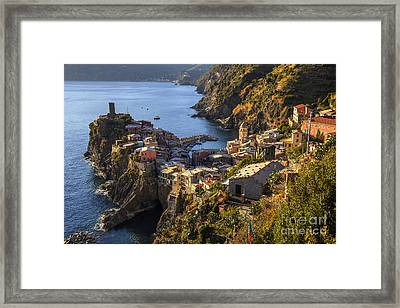 Framed Print featuring the photograph Vernazza by Spencer Baugh