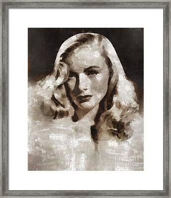 Veronica Lake Vintage Hollywood Actress Framed Print