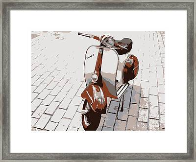 Vespa Scooter Pop Art Framed Print