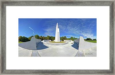 Veterans Freedom Park, Cary Nc. Framed Print by George Randy Bass